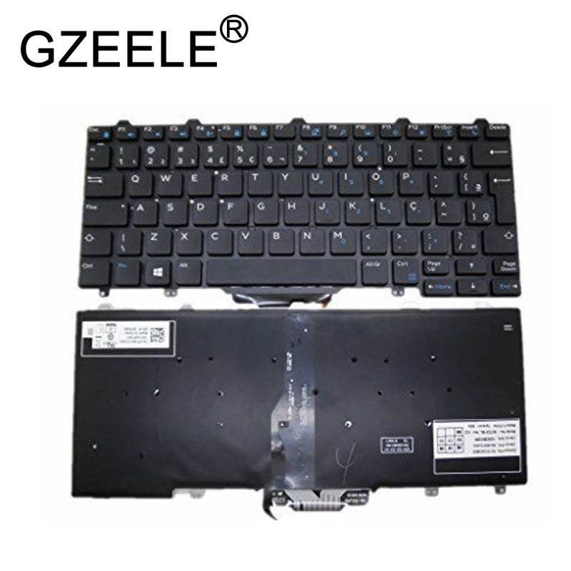 GZEELE Keyboard For DELL Latitude 7350 5480 5290 E5250 E7270 E7250 backlit BR Brazil PK1313O3B35 SN7231BL SG-63210-40A 0PTKNG laptop keyboard for lg 15n540 sn5840 sg 59030 40a sn5840 sg 59030 xra black without frame korea kr br brazil
