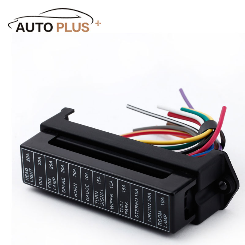 12 way dc 12v volt fuse box 24v 32v circuit car trailer. Black Bedroom Furniture Sets. Home Design Ideas