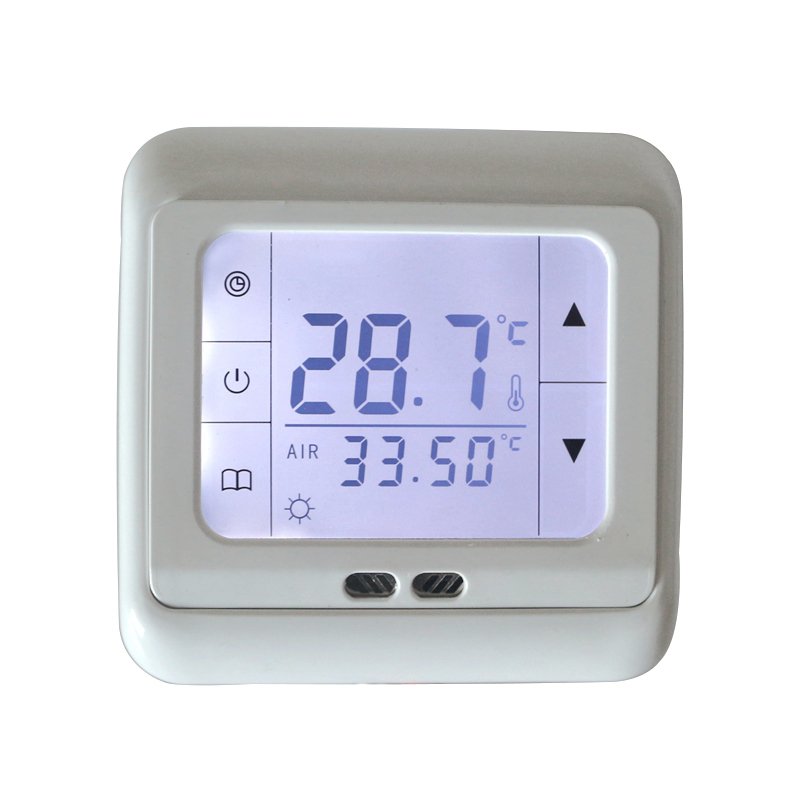 16A Digital Touch Screen Floor Heating Thermostat Room Warm Temperature Controller Auto Control with LCD Backlight Free Shipping elitech digital temperature thermostat 2 relay output control