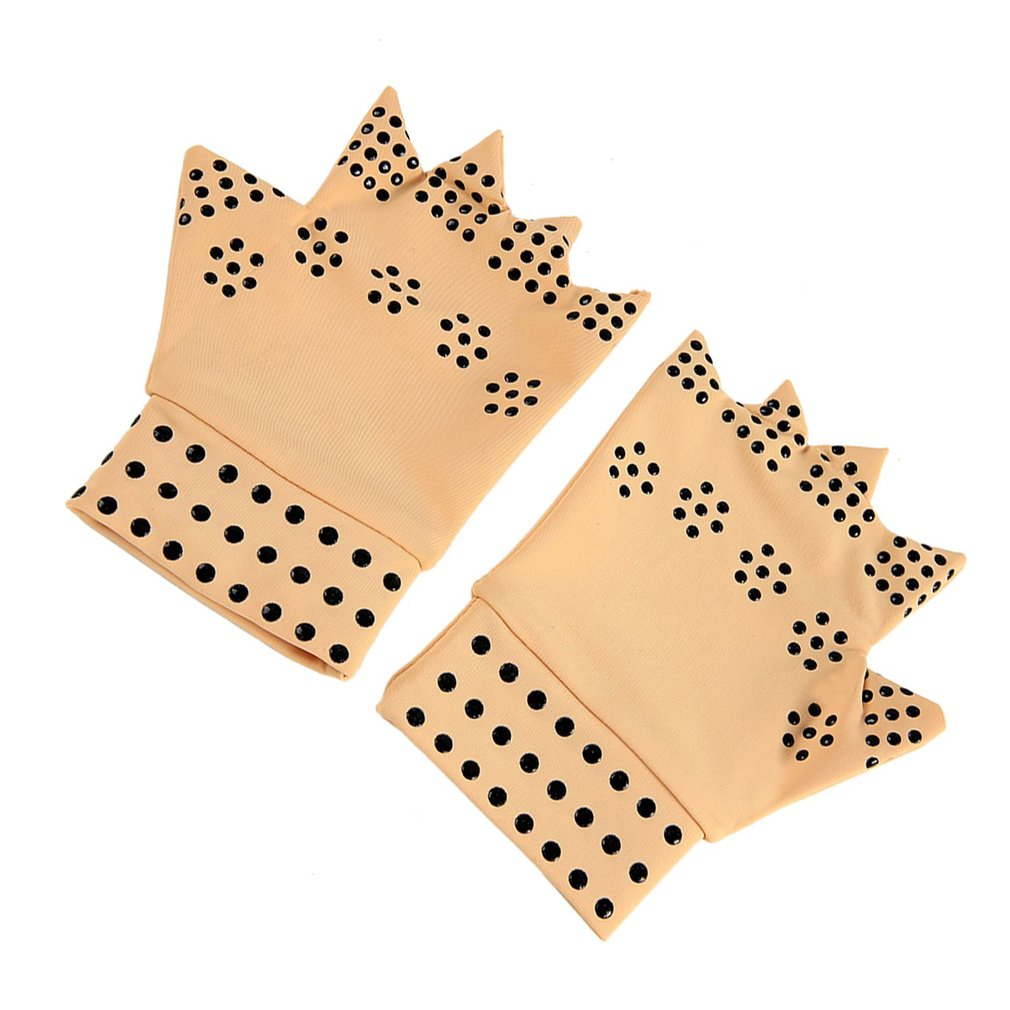 Latex Magnetic Therapy Gloves Health Care Semi-finger Elastic Joints Anti-edema Pressure
