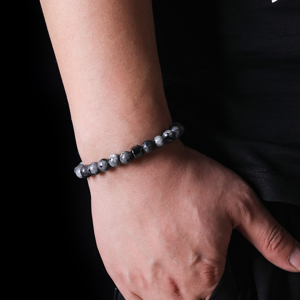 2019 Cylinder Beaded Bracelet For Men Classic Nature Tiger Eyes Stone Beads Charm Bracelets&Bangles Homme Male Yoga Jewelry Gift (12)