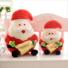 Lovely Santa Claus Short Plush Toy PP Cotton Stuffed Doll Christmas Gift Send to Children Kids