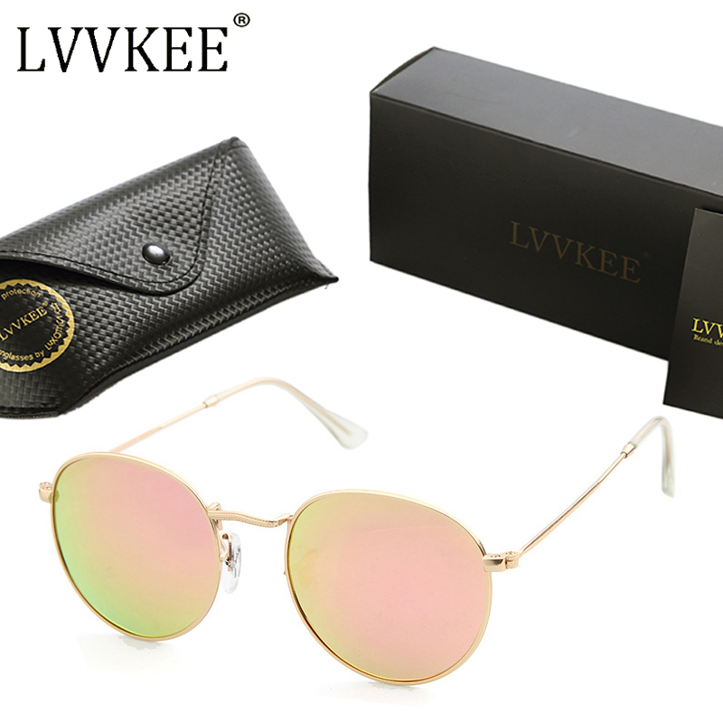 LVVKEE 2017 Brand Designer Round Mirror Polarized Sunglasses 3447 Retro Women Men Circle Sun glasses rays oculos de sol feminino ...