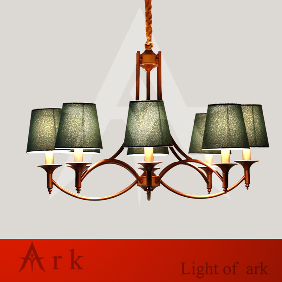 ARK LIGHT Vintage Rural style 8 heads pendant light american iron led pendant light cottage dining room living room study room