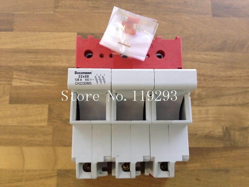 [SA] Bussmann porte-fusible américain CH223DMS véritable original 22x58 125A 690 V -- 2 pcs/lot