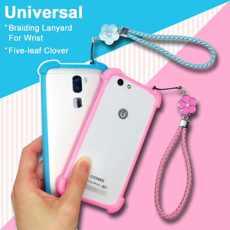 General Mobile GM5 Plus Case GM 5 Plus Universal Soft TPU Hand Lanyard Cover For General Mobile GM6 cover GM 6 Lady Girl Female image