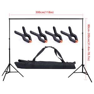 Image 1 - 2 * 3m / 6.5 * 10ft Adjustable Aluminum Photo Background Support Stand Photography Backdrop Crossbar Kit TB 20
