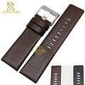 Genuína pulseira de couro pulseira de relógio das mulheres dos homens relógios de pulso cinta banda 22 24 26 28 30mm cor branca para DZ1405 DZ4323