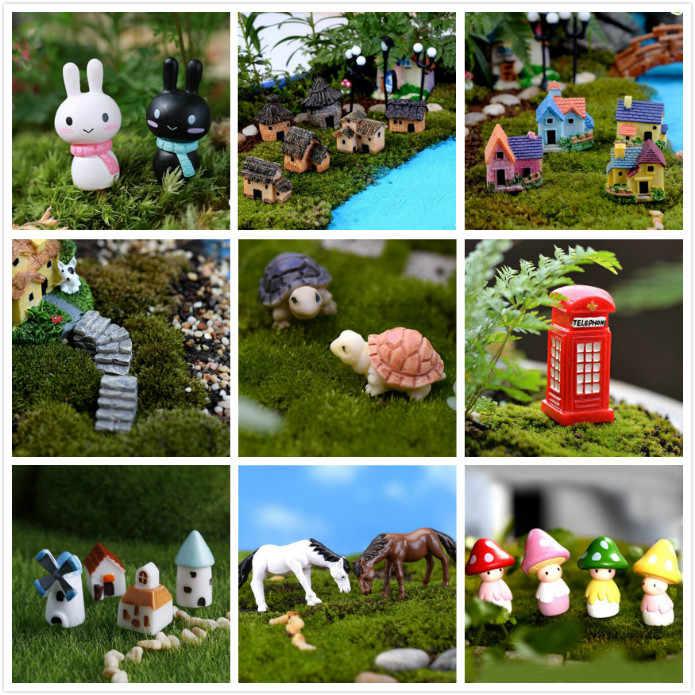 Multi Gaya Miniatur Ornamen DIY Peri Kebun Mikro Rumah Boneka Pot Tanaman Dekorasi Bonsai Terarium Ornamen DIY Miniatur Taman