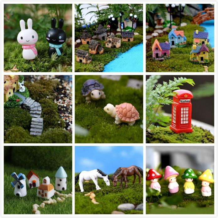 Miniature Animal Dollhouse Ornament Pot Plant Bonsai Garden Decoration