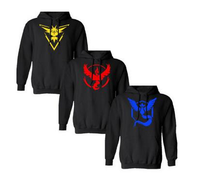 Hot Men Casual s hooded Long Sleeve men Creative Hoodies game Team Valor Team Instinct ash ketchum trainer S-2XL