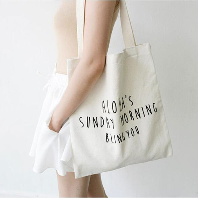 e0786b194935fe Large Capacity Letters Printed Woman Canvas Tote Bag Ladies Beach Bags  Casual Women Shopping Bag Daily