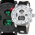 NORTE Led Digital Assista Gents Relógio de luxo Da Marca Homens Relógios de Quartzo de Couro dos homens À Prova D' Água Esporte Relógio De Pulso Relogio masculino