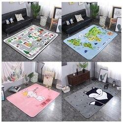 Детские коврики для игр с рисунками животных из мультфильмов и букв; одеяло для пикника; ковер в скандинавском стиле для детской комнаты; до...