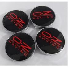 4pcs 60mm Emblem OZ Racing Aluminum Alloy Badge Sticker Wheel Hub Caps Centre Cover For Bmw KIA VW golf passat polo Hyundai Ford