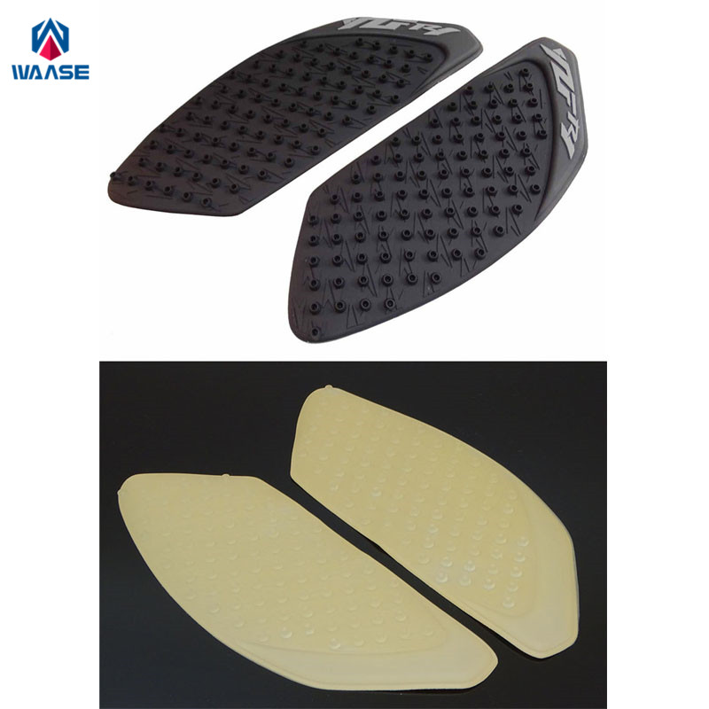 waase Tank Pad Protector Sticker Decal Gas Knee Grip Traction Pad Side 3M For Yamaha YZF R1 2009 2010 2011 2012 2013 2014 bjmoto for ktm duke 390 200 125 motorcycle tank pad protector sticker decal gas knee grip tank traction pad side