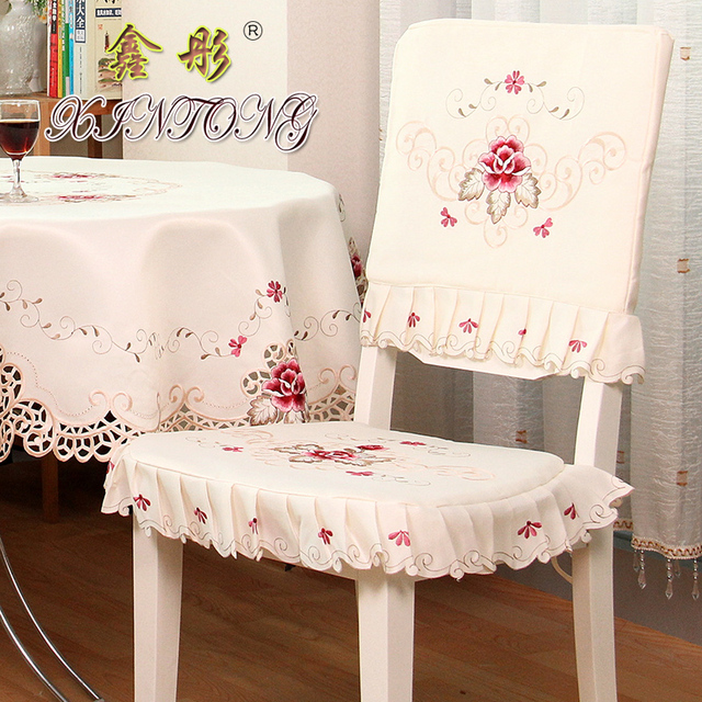 TY1017 Luxury Rustic Dining Table Fabric Chair Cover Seat Cushion Thicken Backrest Covers Home Textile