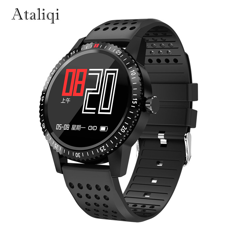 Ataliqi Smart watch Men IP67 Waterproof Blood pressure Heart Rate Monitor Color Display Bluetooth SmartWatch For Android IOS