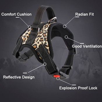 New Pets Dog Reflective Harness Vest  Tape Breathable Mesh Safety Leash Collar Accessories 2