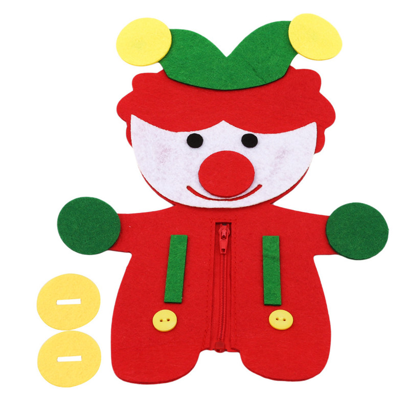 Cloth Zipper and Button Teaching Toy for Kids