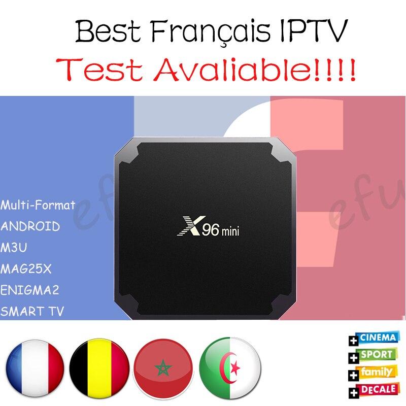 Français IPTV X96 mini Android 7.1 Smart TV BOX 2G16G/1G8G avec 1300 + NEOTV QHDTV Arabe Belgique Maroc la télévision à péage et VOD Set top Box