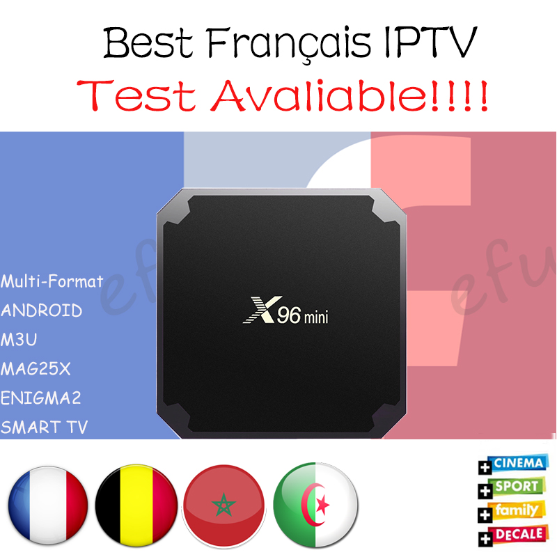 Francés IPTV X96 mini Android 7,1 caja de TV inteligente 2G16G/1G8G con 1300 + NEOTV QHDTV árabe Bélgica Marruecos pago y VOD Set top BOX