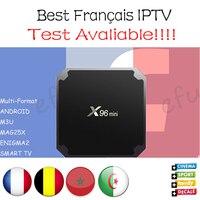 French IPTV X96 mini Android 7.1 Smart TV BOX 2G16G/1G8G with 1300+ NEOTV QHDTV Arabic Belgium Morocco PayTV & VOD Set top Box