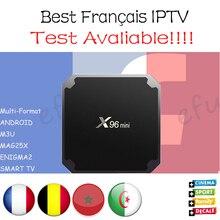 Французский IPTV X96 Мини Android 7,1 Smart ТВ коробка 2G16G/1G8G с 1300 + NEO ТВ QHD ТВ арабский Бельгии Марокко Pay ТВ и VOD телеприставке