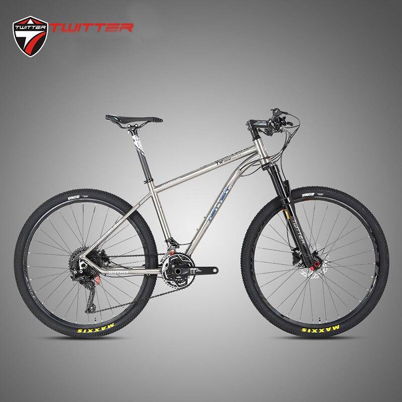 TWITTER WERNER Titanium Bicycle Mountain Bike 22s 33s MTB Titanium Frame XT M8000 Sets XC DT Fork X1900spline Wheels