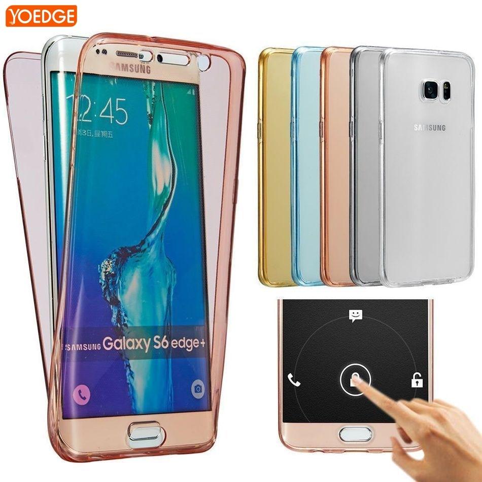 Coque For Samsung Galaxy S7 S7 Edge S8 Plus S6 J1 J3 J5 J7 A3 A5 2016 2017 2015 S5 Transparent TPU Soft Case full Clear Cover
