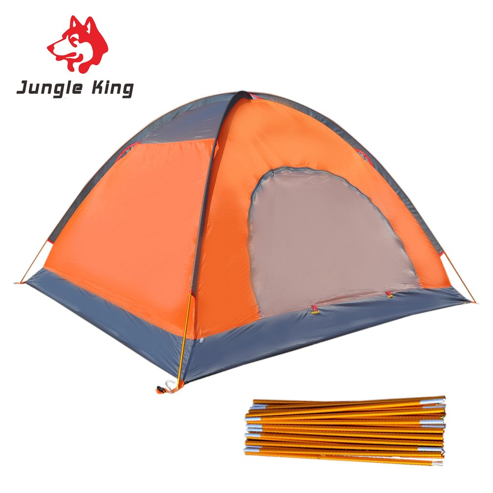 New Double Layers Camping Tent Aluminum Rod Waterproof Four Persons Beach Tent With Carry Bag For Outdoor Travel Hiking camping 2 persons camping tent double layer outdoor waterproof tent for beach garden backyard picnic