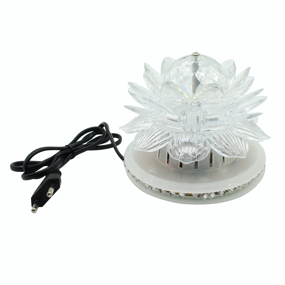 Lotus LED Stage Lamp Automatic rotation Multicolor flicker US/EU plug for KTV,Party,Wedding,Bar,Disco,Park,indoor,outdoor