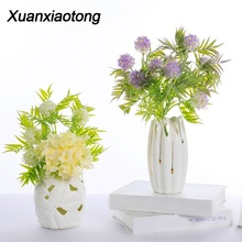 Xuanxiaotong 1Pcs Purple Hydrangea Flowers Artificial for Home Hotels Decoration Table Real Touch