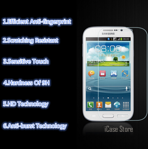 Top Quality 0.26mm Tempered Glass For Samsung Galaxy Grand Duos GT I9082 / Grand Neo i9060 i9062 Plus i9060i Protective Film