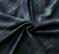 British retro contrast plaid wool cashmere fabric coat ,printing super wax hollandais african sequin Christmas cloak fabric A154