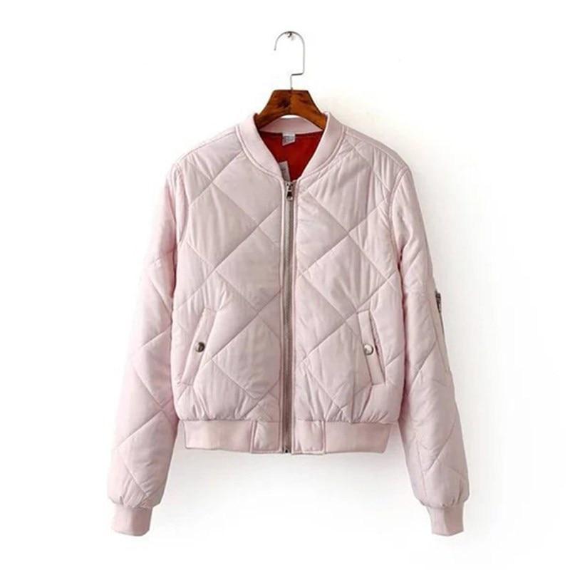 2017 printemps femmes vestes rhombique grande grille carrée manteau de base femme couleur Pure coton veste pour femmes automne Bomber veste
