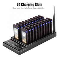 20 Channels Restaurant Pager Waiter Calling System 107dBm High Sensitivity Wireless Queue Calling System Guest Paging System