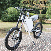 2018 Hot sale 72v 5000w Enduro Ebike Electric bicycle Mountain Bike Electric Motorcycle