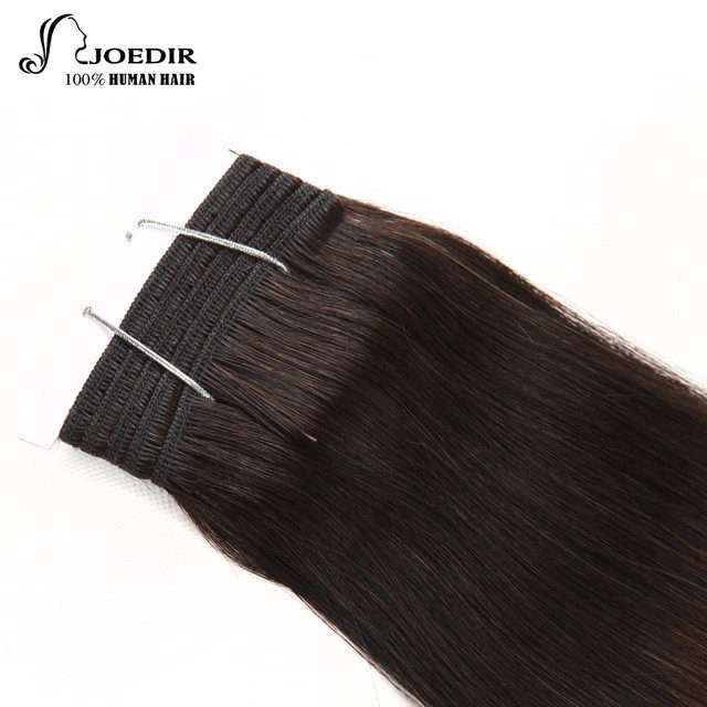 Online Shop Joedir Pre Colored Brazilian Remy Straight Hair Weave