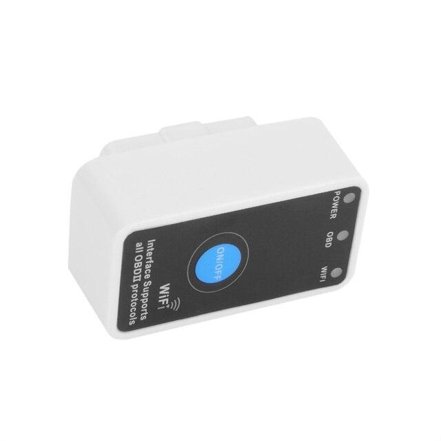 Портативный Мини ELM327 беспроводной Wi-Fi ELM 327 OBDII Автомобиля Диагностический Инструмент OBD2 Код Читателя Сканер с вилкой ELM WiFi 327 горячий продавать