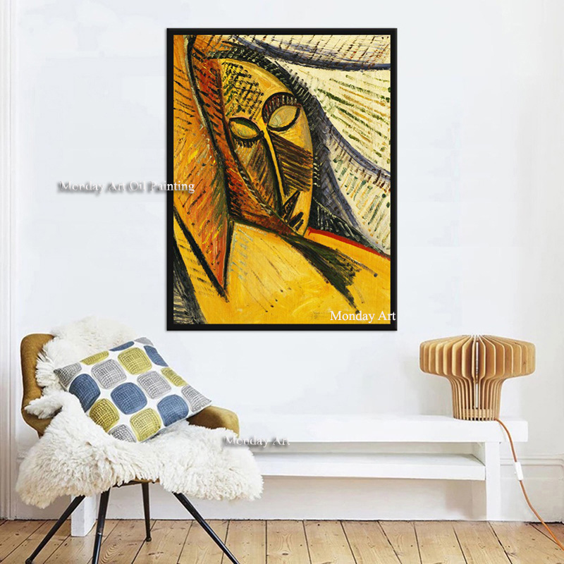 WARMSUN-Pablo-Picasso-Abstract-Oil-Painting-Replica-Canvas-Painting-Wall-Art-Posters-For-Living-Room-Bedroom
