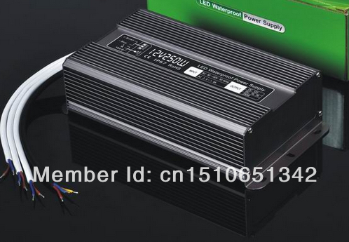 DHL free ship 250W waterproof led power supply AC90~250V to 12V/24V output constant voltage driver 2 year warranty transformer 60w 80w constant voltage triac dimmable led driver waterproof transformer ac180 250v 90 130v to12 24v power supply for lighting