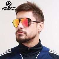 KDEAM Occhiali Da Sole Uomo occhiali Polarizzati HD Senza Montatura Occhiali Da Sole Rivestimento Riflettente Donne all'aperto Occhiali Da Sole di Marca 5 colori KD143