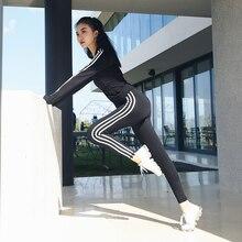 Womens sports clothing yoga suit set coat Fitness female