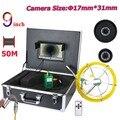 9 pollici 17 millimetri Tubo di Fogna Ispezione Sistema di Telecamere di Video IP68 1000 TVL con 8 pcs LED 20 M 30 M 40 M 50 M