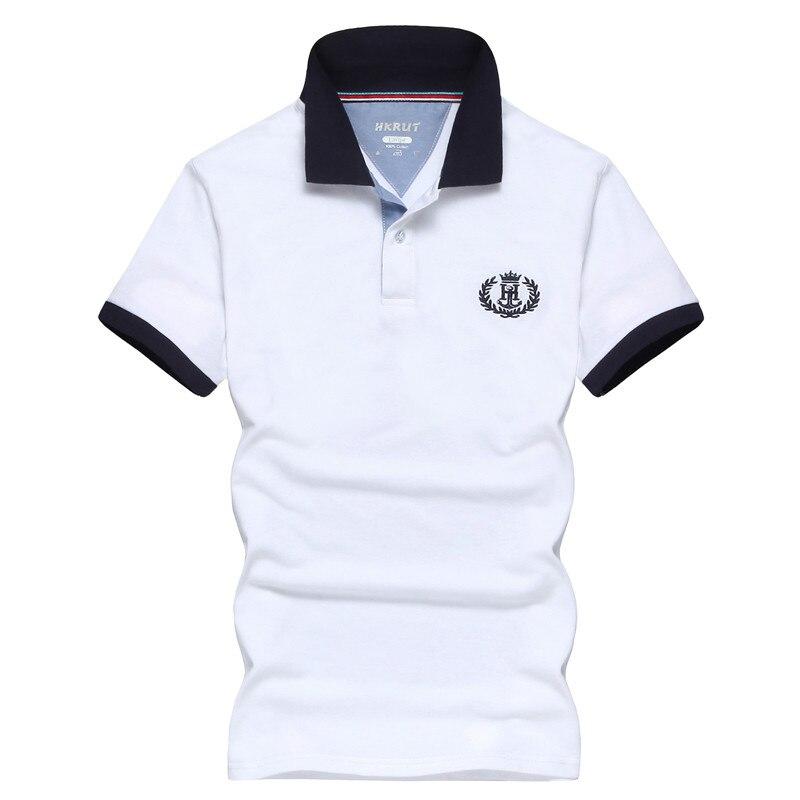 Casual Polo Shirts Men Brand Black Blue Polo Cotton Short