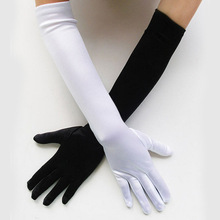 Satin Long Finger Elbow Sun protection gloves Opera Evening Party Prom