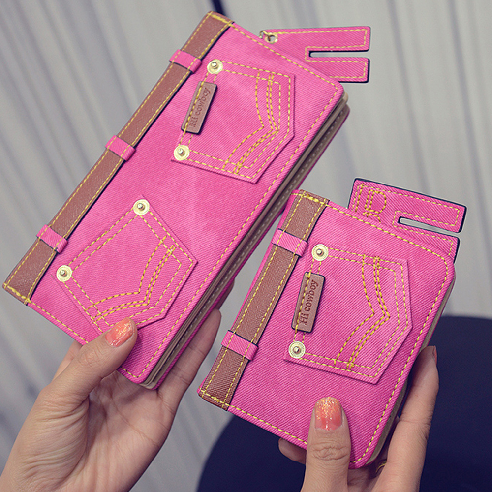 bolsa da moeda da carteira Main Material : Jeans Canvas