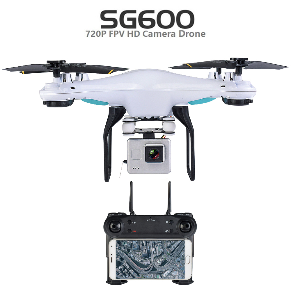 Teeggi SG600 RC Drone with 0.3mp Or 2mp WIFI FPV HD Camera Quadcopter Auto Return Altitude Hold Mode RC Helicopter Vs SYMA X5C syma x5uw fpv rc quadcopter rc drone with wifi camera 2 4g 6 axis mobile control path flight vs syma x5uc no wifi rc helicopter