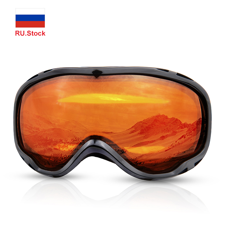 Winter Ski Goggles Snow Sports Snowboard Goggles Anti-fog UV Protection Men Women Youth Snowmobile Windproof Skiing Skating Mask